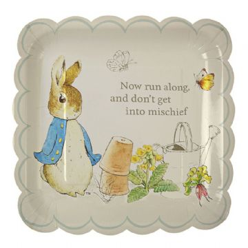 Peter Rabbit Paper Party Plates - pack of 12, Large